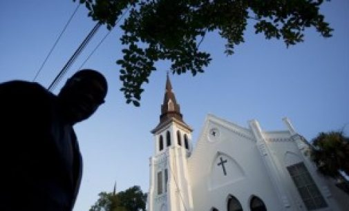 Songs and prayer accompany first service at Charleston church since shooting