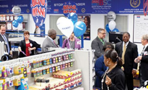D.C.-based office supply operation has local links