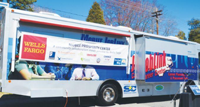 Mobile center designed to help residents prosper