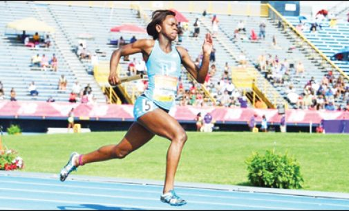Former three-sport athlete settles for track