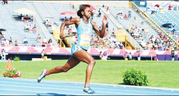 Former three-sport athlete settles for track