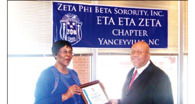 Bishop receives Zeta award