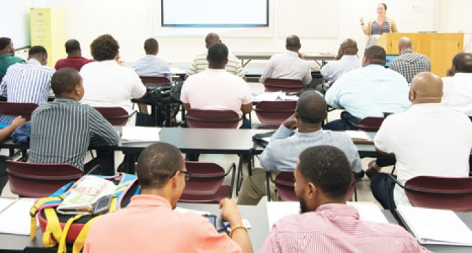 Black Men Prepare for  Challenges of the Classroom