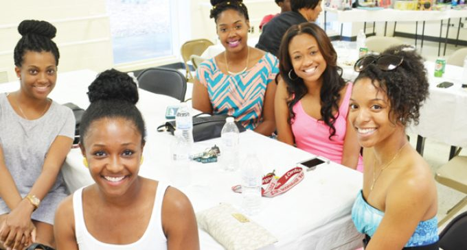 Members of Omega Psi Phi Fraternity host 10th annual Family Fun Day