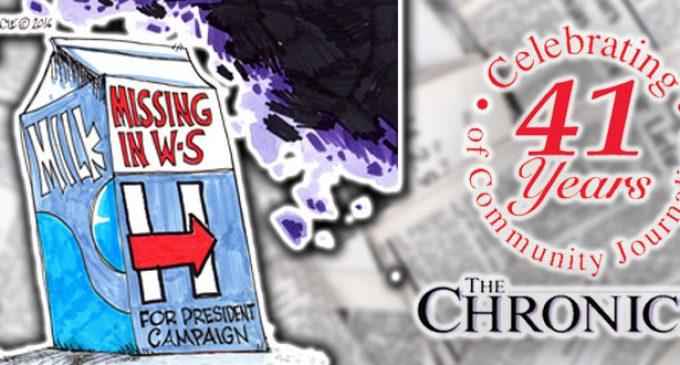 Poltiical Cartoon: Missing in Winston-Salem