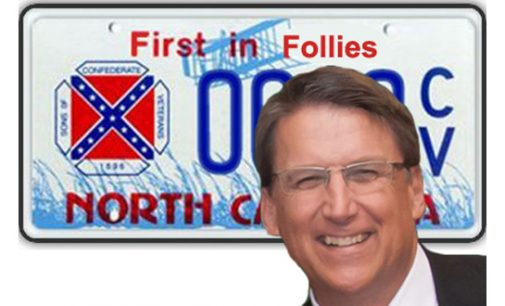Commentary: McCrory is talk but no action on Confederate flag license plates