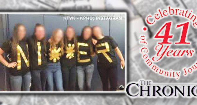 Commentary: White girls' shirts spell out Ni**er – Sur*ris*!, Sur*ris*!