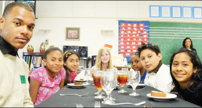 Kids get formal dining experience