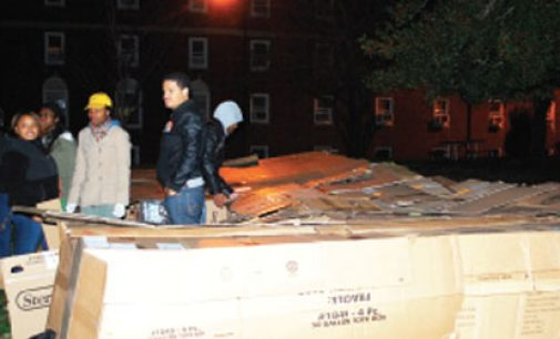 Fraternity seeks community  donations during sleep-out