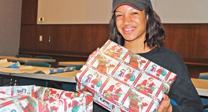 WSSU students wrap for Lifeline  Shoebox Ministry