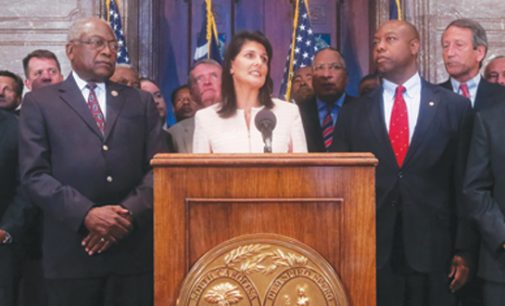 S.C. governor calls on removal of Confederate flag from Statehouse grounds