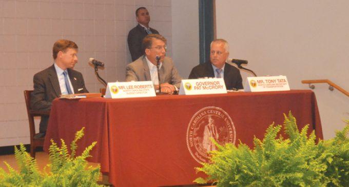 Governor McCrory discusses bond plan, construction of I-74 around Winston-Salem