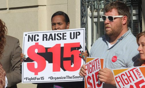 Protesters demand minimum wage increase to $15