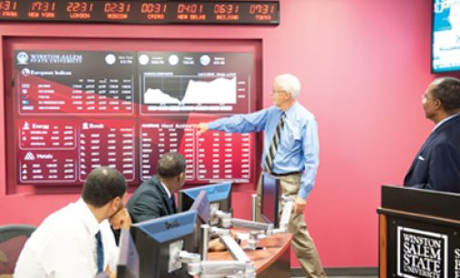 WSSU students to learn hands-on in new trading room