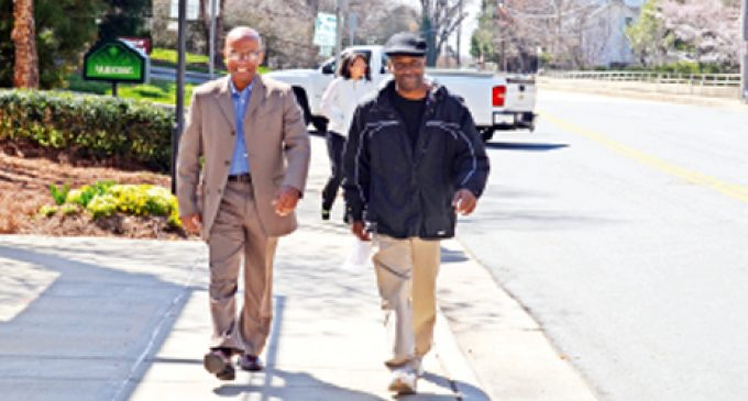 Locals hit the streets for National Walking Day
