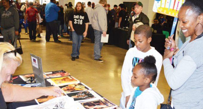 Fans flock to premier wrestling event