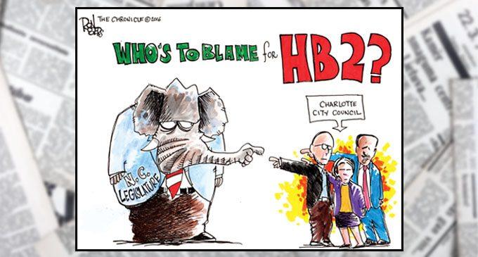 Political Cartoon: Blame Game