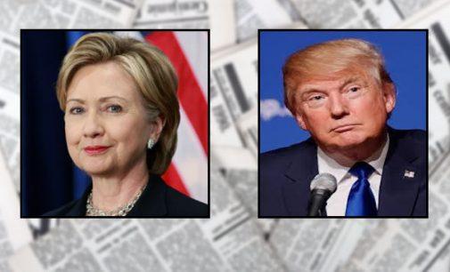 Clinton, Trump at odds over tackling guns and terrorism