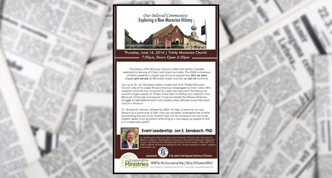Dr. Jon Sensbach examines the history of St. Philips Moravian Church; one of the oldest African-American congregations in the nation