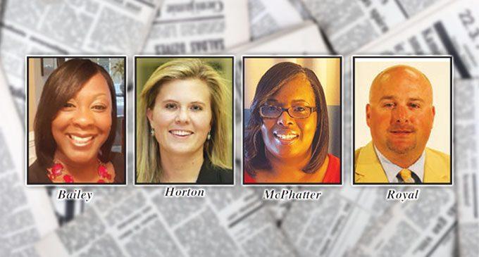New principals named for Caleb's Creek, Cash, Petree and Reagan