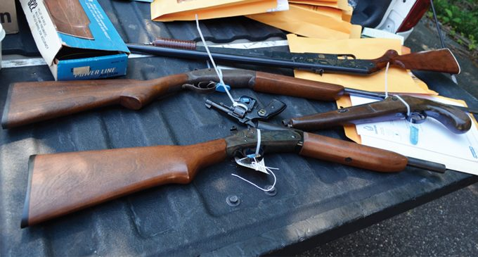 Police gather unwanted guns from the public