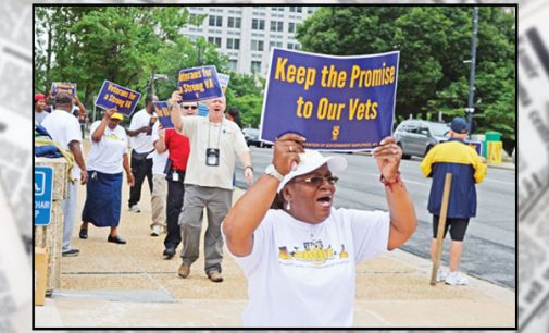 Marching against Veterans Affairs privatization