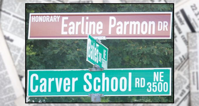 Street renamed to honor Earline Parmon