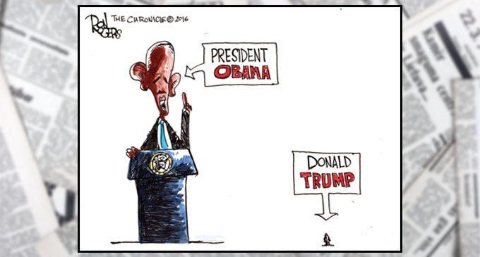 Political Cartoon: Big and Small