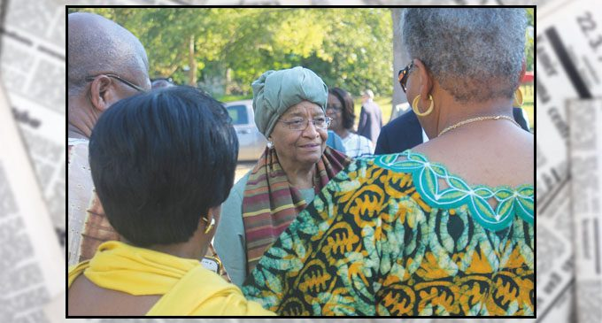 Street renamed to honor first female head of state in Africa