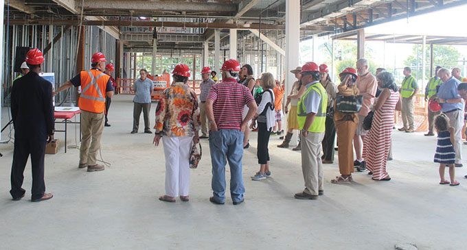Residents tour Central Library