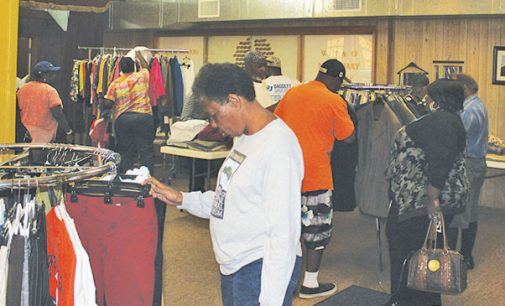 Winston-Salem church uses clothes giveaway to register people to vote