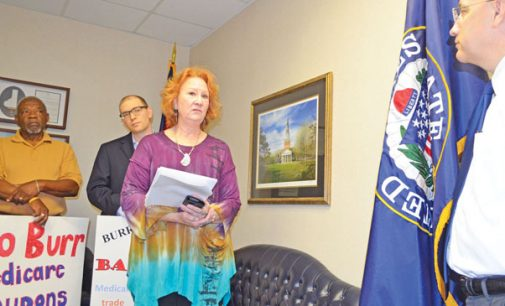 Medicare protest returns to Burr's office