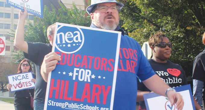 Educators march to polls in early voting