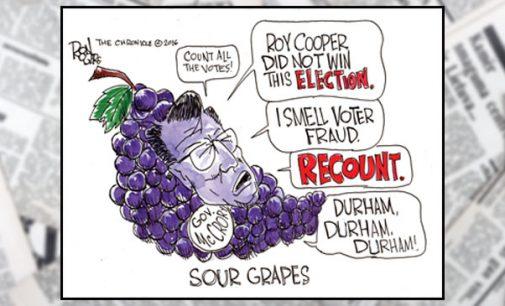 Editorial Cartoon: Sour grapes
