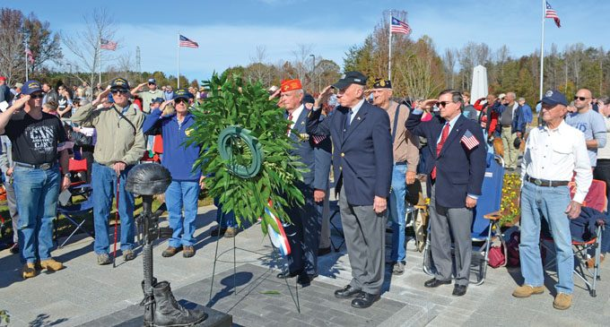 Veterans Day ceremony addresses flag burning and protests