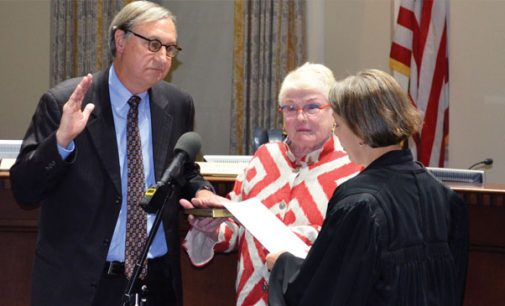 City Council says farewell to Molly Leight as John Larson takes the oath