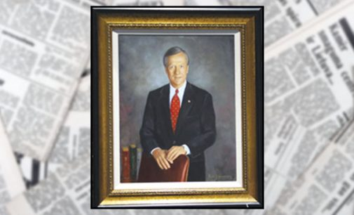 Portrait of Mayor Allen Joines unveiled