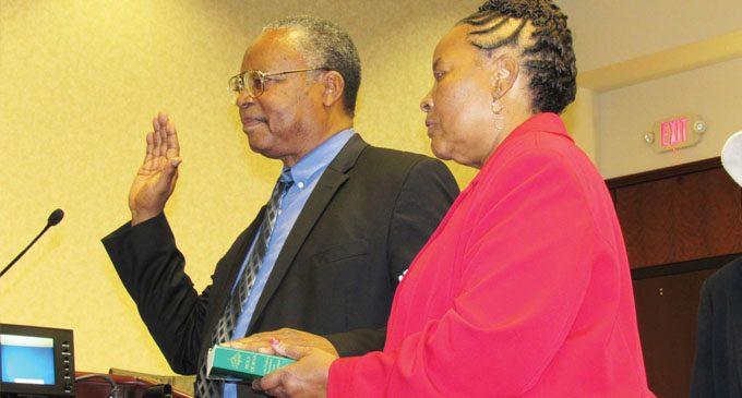 El-Amin sworn in as county commissioner