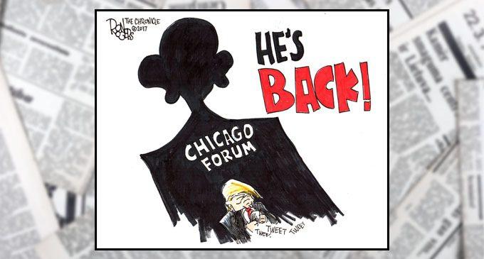 Editorial Cartoon: He's Back