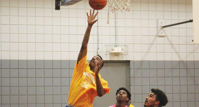Teen basketball league heats up