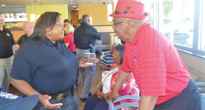 Police mingle at East Winston 'Coffee with a Cop' event