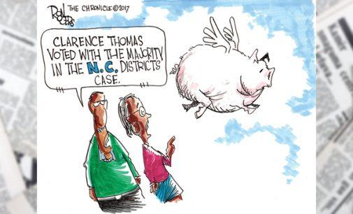 Editorial Cartoon: Pigs Fly!