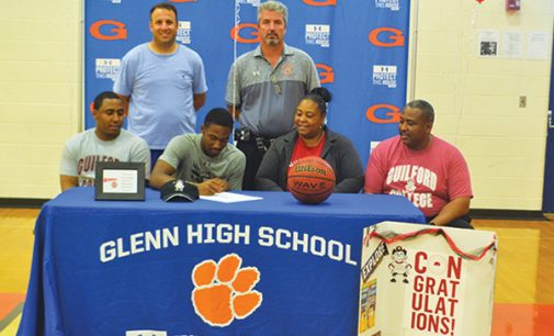 Glenn athlete signs to Guilford College