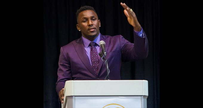 Panther Thomas Davis speaks about journey