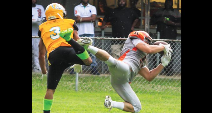Semi-pro football team takes on local rival