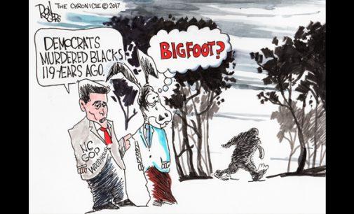 Political Cartoon: Bigfoot?