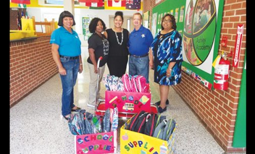 Eastern Star chapter donates filled backpacks to  Ashley students