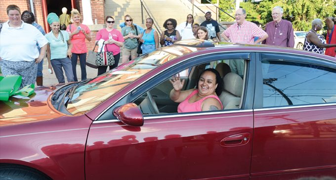 Back in the driver's seat: Local woman gets car though Wheels4Hope
