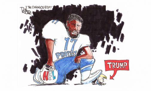 Editorial Cartoon: Taking a Knee