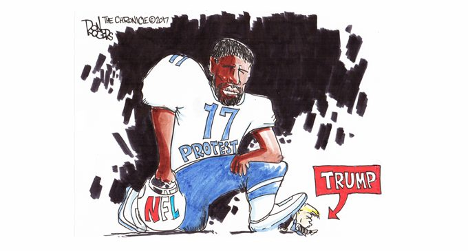 Editorial Cartoon: Taking a Knee